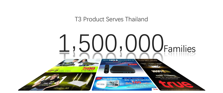 T3 product serves Thailand 1 million families